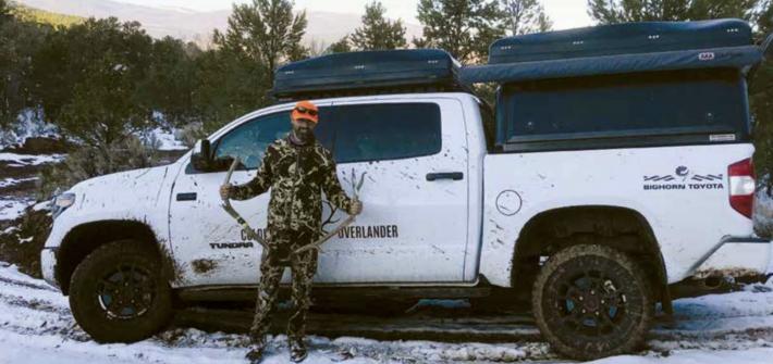 Colorado Overlander owner Pat Drake showcases his ride and rack. (Photo courtesy of Colorado Overlander)